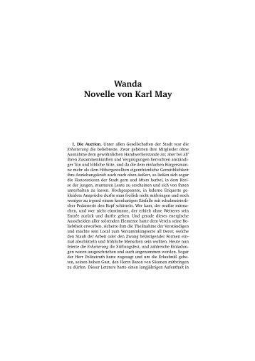 Wanda Novelle von Karl May