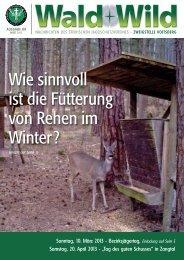 Wald + Wild das Infoblatt des Steir. Jagdschutzvereins Zweigstelle ...