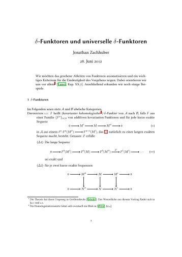 δ-Funktoren und universelle δ-Funktoren