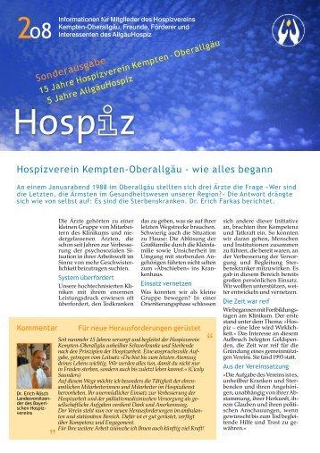 Infobrief 2/2008 Sonderausgabe - Allgäu Hospiz