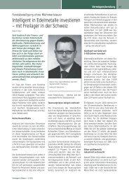 Intelligent in Edelmetalle investieren - SOLIT Kapital GmbH