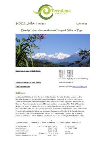 DARJEELING SIKKIM BHUTAN - Terralaya Travels
