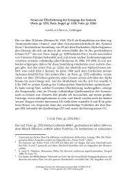 Neues zur Überlieferung der Synagoge des Symeon - Göttinger ...