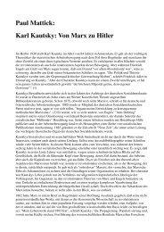 Paul Mattick: Karl Kautsky: Von Marx zu Hitler (1939)