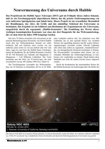 Neuvermessung des Universums durch Hubble - Weltraumfacts