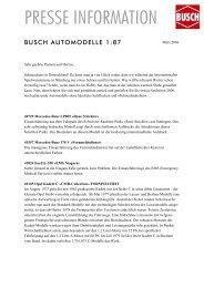 Erste Neuheitenauslieferung 2006 Automodelle - Busch