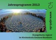 Jahresprogramm 2013 Ev.-luth. Kirchenkreisjugenddienst ... - ejeb.de