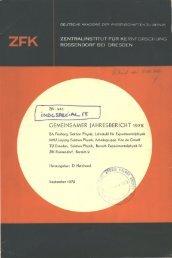 ROSSENDORF BEI DRESDEN - IAEA Nuclear Data Services