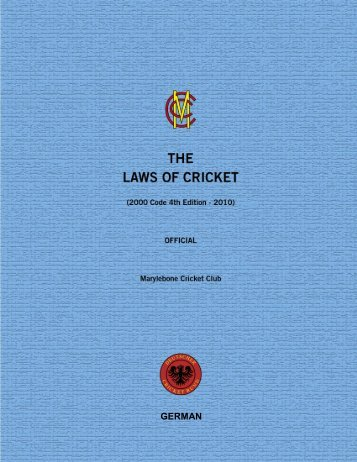 Laws of Cricket - GERMAN - Lord's