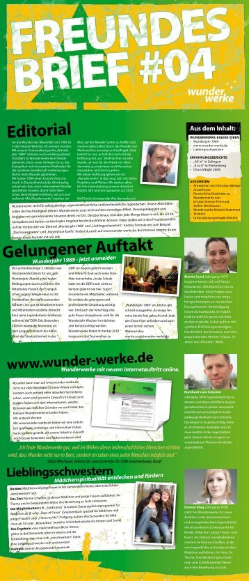 den Freundesbrief Nr. 4 downloaden (pdf) - Wunderwerke