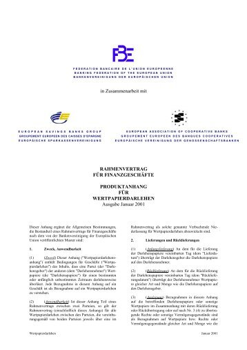 Der Rahmenvertrag