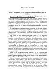Zusammenfassung Kapitel I. Hauptetappen der vor- und ...