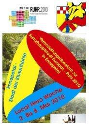 Veranstaltungsbroschüre der Stadt Ennepetal