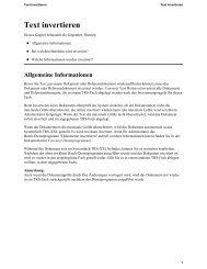 Text invertieren - Software AG Documentation