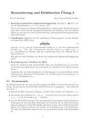 Renormierung und Eichtheorien¨Ubung 3