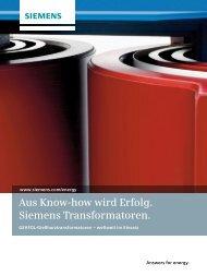 GEAFOL-Gießharztransformatoren - Siemens Energy