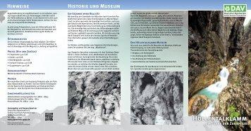 Folder in Deutsch - Alpenverein Garmisch-Partenkirchen