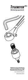 Bedienungsanleitung Handnietwerkzeug R1 - Titgemeyer