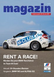 M Club Magazin 3/2007 - 24h Rennen Nürburgring - BMW M Drivers ...