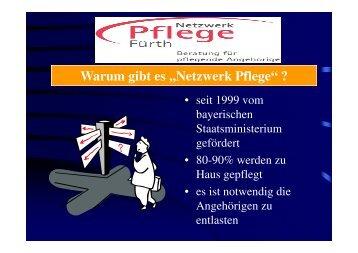 """Warum gibt es ,,Netzwerk Pflege"""" ? - Awo-fuerth.de"""