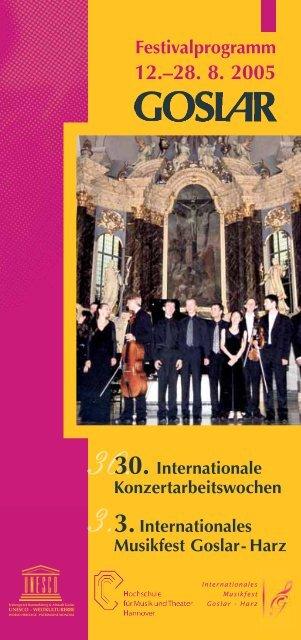 Programm - Internationales Musikfest Goslar