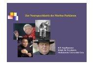 Zur Neuropsychiatrie des Morbus Parkinson - Medizinische ...