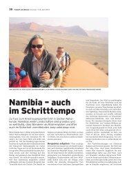Namibia – auch im Schritttempo - Baumeler