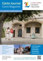 Gästejournal April-Juni 2013 (PDF) - Lutherstädte Eisleben Mansfeld