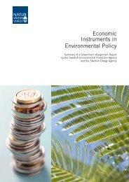 Economic Instruments in Environmental Policy - Naturvårdsverket