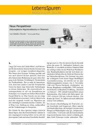 Neue Perspektiven: Osteuropäische ... - Lebensspuren