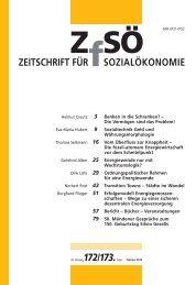 ZEITSCHRIFT FÜR SOZIALÖKONOMIE 172/173.