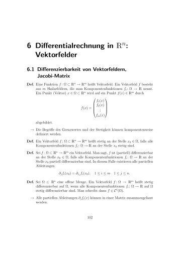 6 Differentialrechnung in R : Vektorfelder