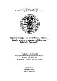 Regulierte angiogene und entzündungsmodulierende Proteine bei ...