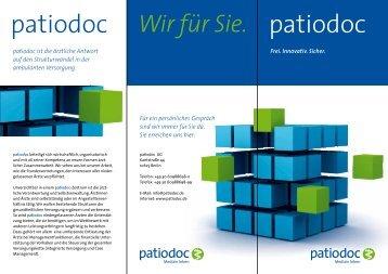 patiodoc-Unternehmensflyer - patiodoc AG