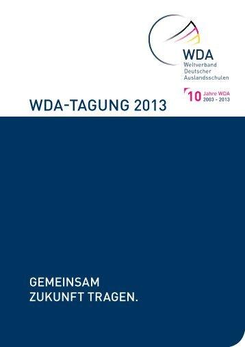 Programm der WDA-Tagung 2013 - Auslandsschulnetz