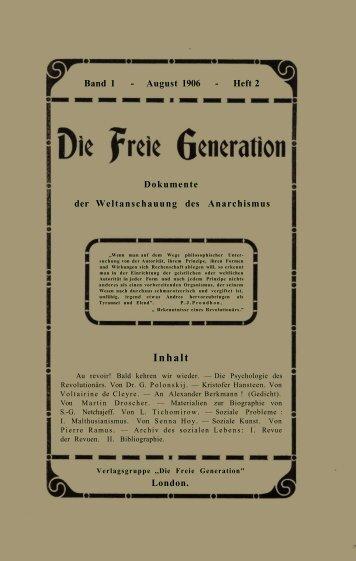 Die Freie Genertion Dokumente der Weltanschauung des ... - DIR