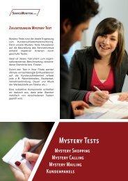 Flyer zu unseren Mystery Tests downloaden