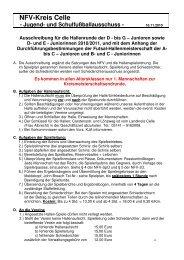 bis G – Junioren sowie D- und E - Juniorinnen ... - NFV Kreis Celle