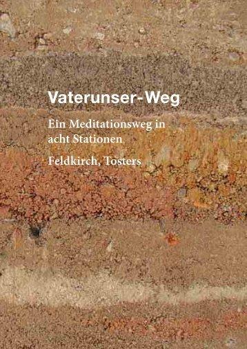 Vater-unser Weg Broschüre - Katholische Kirche Vorarlberg