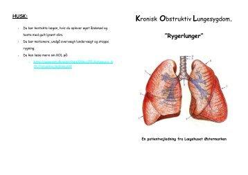 Kronisk Obstruktiv Lungesygdom. - Lægehuset Østermarken
