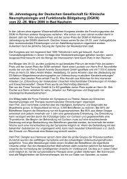 50. Jahrestagung der DGKN vom 22.-26.03.2006 in Bad ... - DGM