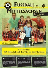 Sonderausgabe | April 2013 - Kreisverband Fußball
