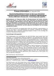 Presse-Information (13. Dezember 2006) - Christival