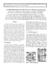 A Scalable Implementation of Fault Tolerance for MassivelyParallel ...