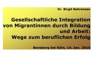 GEMINI - Wege zum beruflichen Erfolg (Behrensen) - Erzbistum Köln