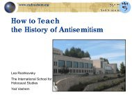 How to Teach the History of Antisemitism - State of New Jersey