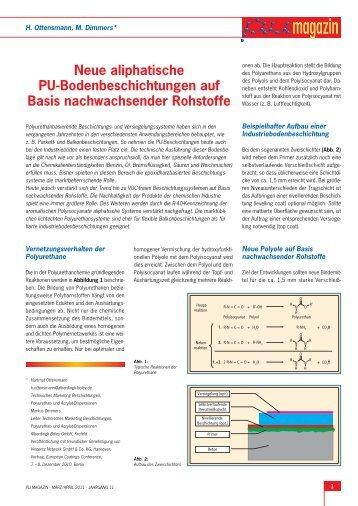 Neue aliphatische PU-Bodenbeschichtungen auf ... - Alberdingk Boley