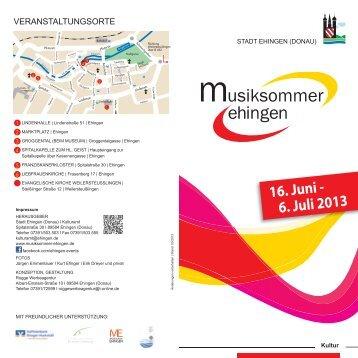 16. Juni - 6. Juli 2013 - Stadt Ehingen