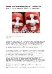 Ich bin stolz, ein Schweizer zu sein - Daniel Steiner-Brütsch