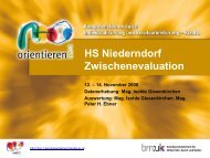 HS Niederndorf Evaluation 22-12-08 - Berufsorientierung